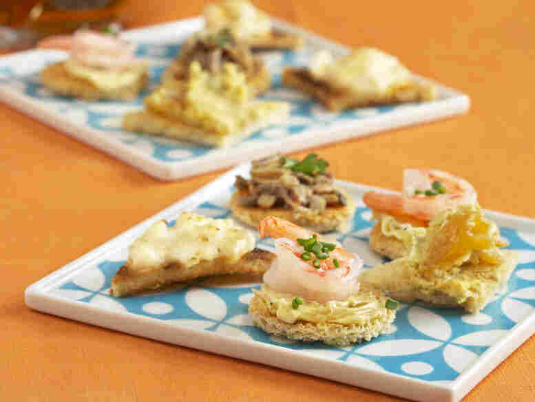 Canapes from The Unofficial Mad Men Cookbook.
