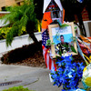 A memorial to Trayvon Martin sits outside The Retreat at Twin Lakes community in Sanford, Fla., where the teenager was shot and killed by George Michael Zimmerman.