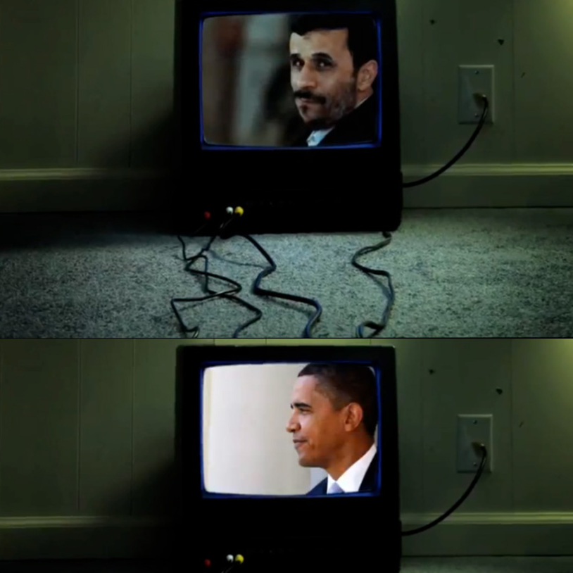 Obama and Ahmadinejad screenshot.
