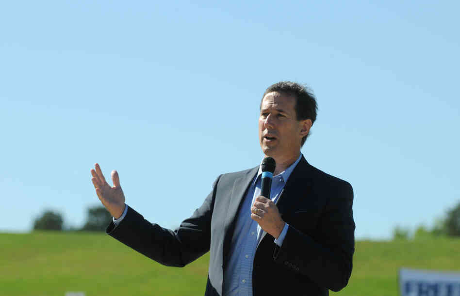 Republican presidential candidate, former Sen. Rick Santorum, speaks at a campaign rally in West Monroe, La. on Friday.