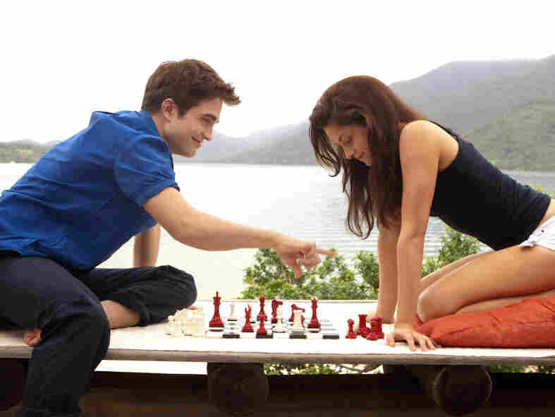 Edward (Robert Pattinson) and Bella (Kristen Stewart) in Breaking Dawn Pt. 1, the first half of the last book in Stephenie Meyer's Twilight series.