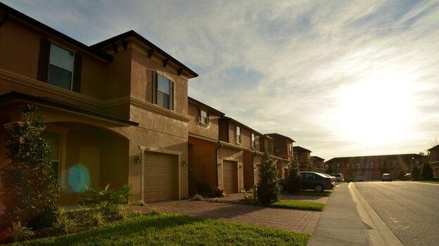 Homes sit along Retreat View Circle in Sanford, Fla., near where Trayvon Martin was shot by neighborhood watch volunteer George Zi