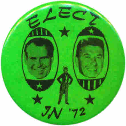 The ticket that never was: Nixon & Reagan in 1972.