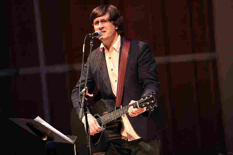 The Mountain Goats' John Darnielle at center stage.