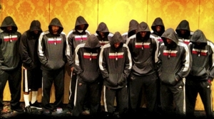 Miami Heat players wear team hoodies in this image posted to LeBron James' Twitter page. NBA stars Dwyane Wade and James decided Thursday to make their reactions to Trayvon's death public.