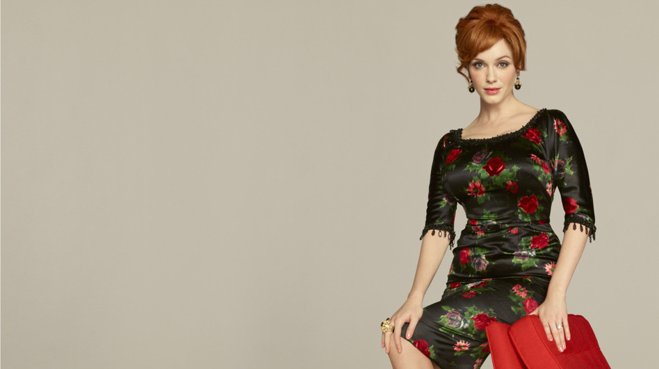 Joan Harris (Christina Hendricks) is one of the women of <em>Mad Men</em>, which returns Sunday night on AMC.