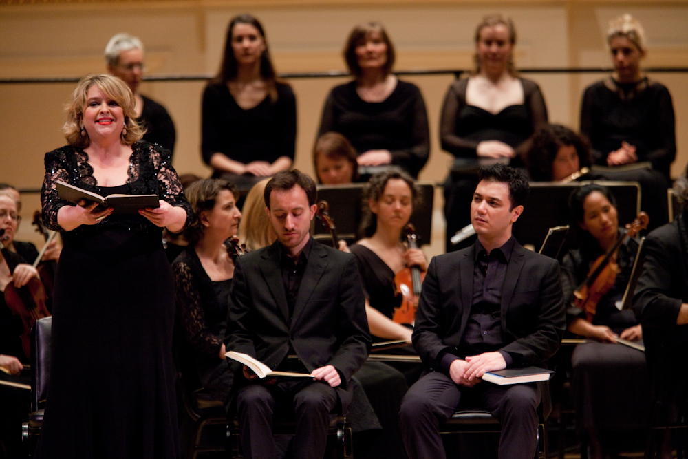 "Canadian soprano Karina Gauvin sang many beautiful Bach moments in the performance, including the aria ""Melt my heart, in flodds of tears."""