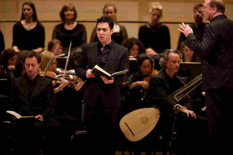 American tenor Nicholas Phan takes a solo.