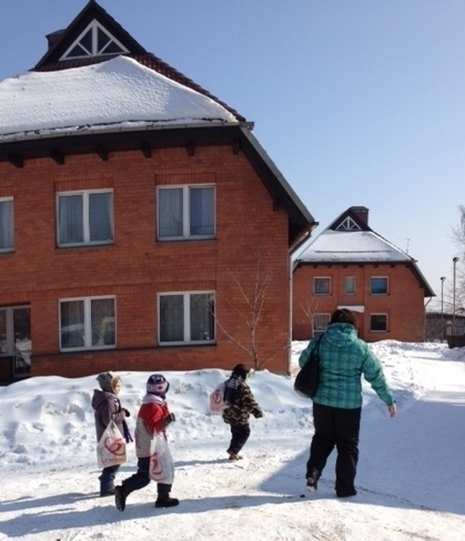 The SOS Children's Village in Tomilino is one of six such complexes in Russia. Each location houses about 60 orphaned or abandoned children. (NPR)
