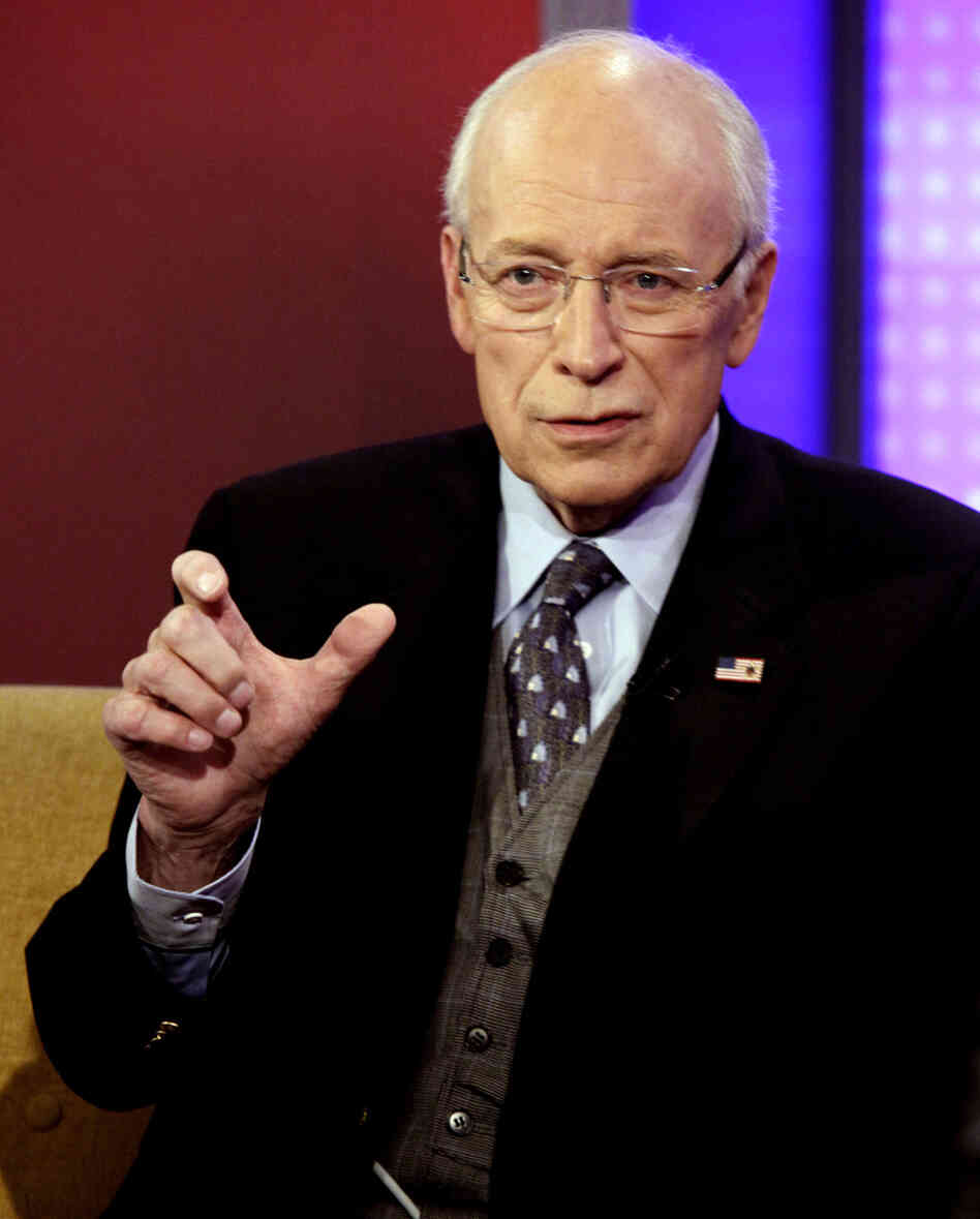 Dick Cheney is interviewed in New York in August 2011. The former vice president is r