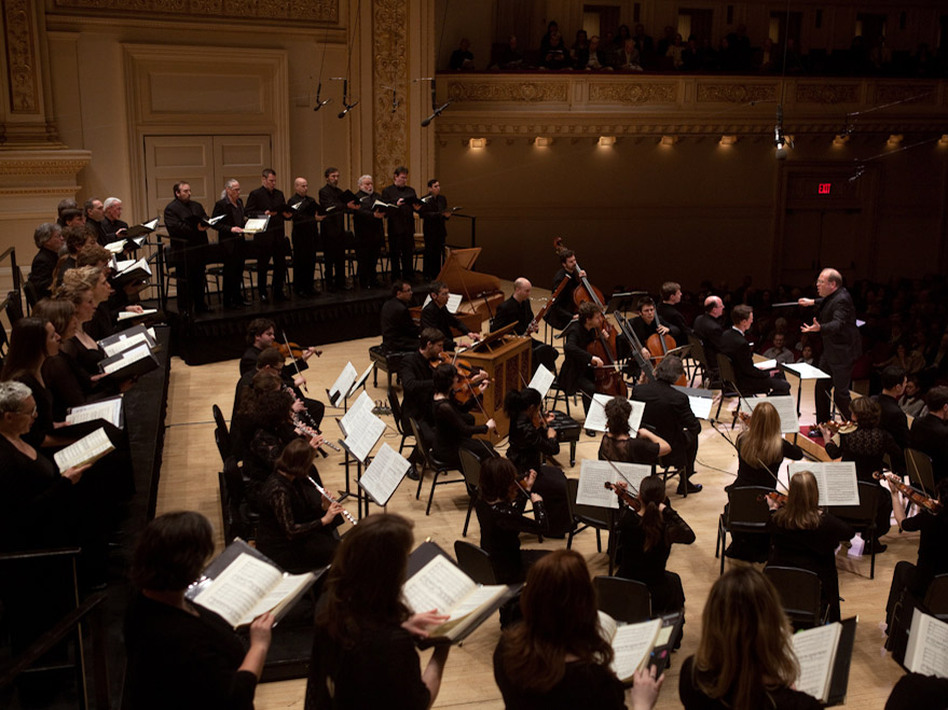 Music Director Bernard Labadie conducts Les Violons du Roy and soloists in Bach's <em>St. John Passion</em> at Carnegie Hall.
