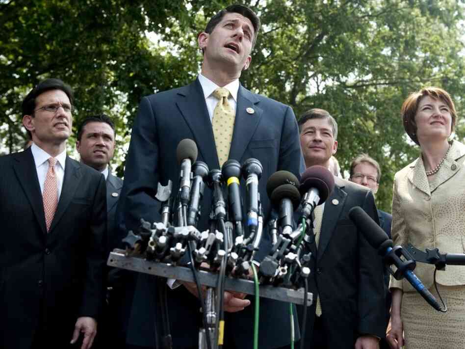 U.S. Rep. Paul Ryan, R-Wis, chairman of the House Budget Committee, speaks to the media following a meeting between President Barack Obama and the House Republican Conference about the national debt limit and budget plans at the White House in Washington D.C., June 1, 2011. Ryan released his newest budget proposal on March 20, 2012.