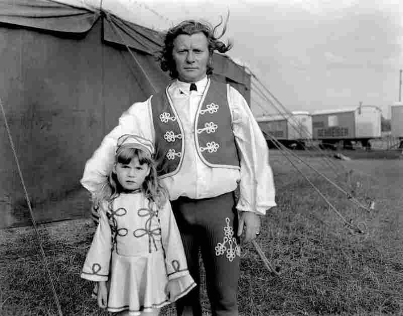 Father and daughter circus act, Stockholm, Sweden, 1973