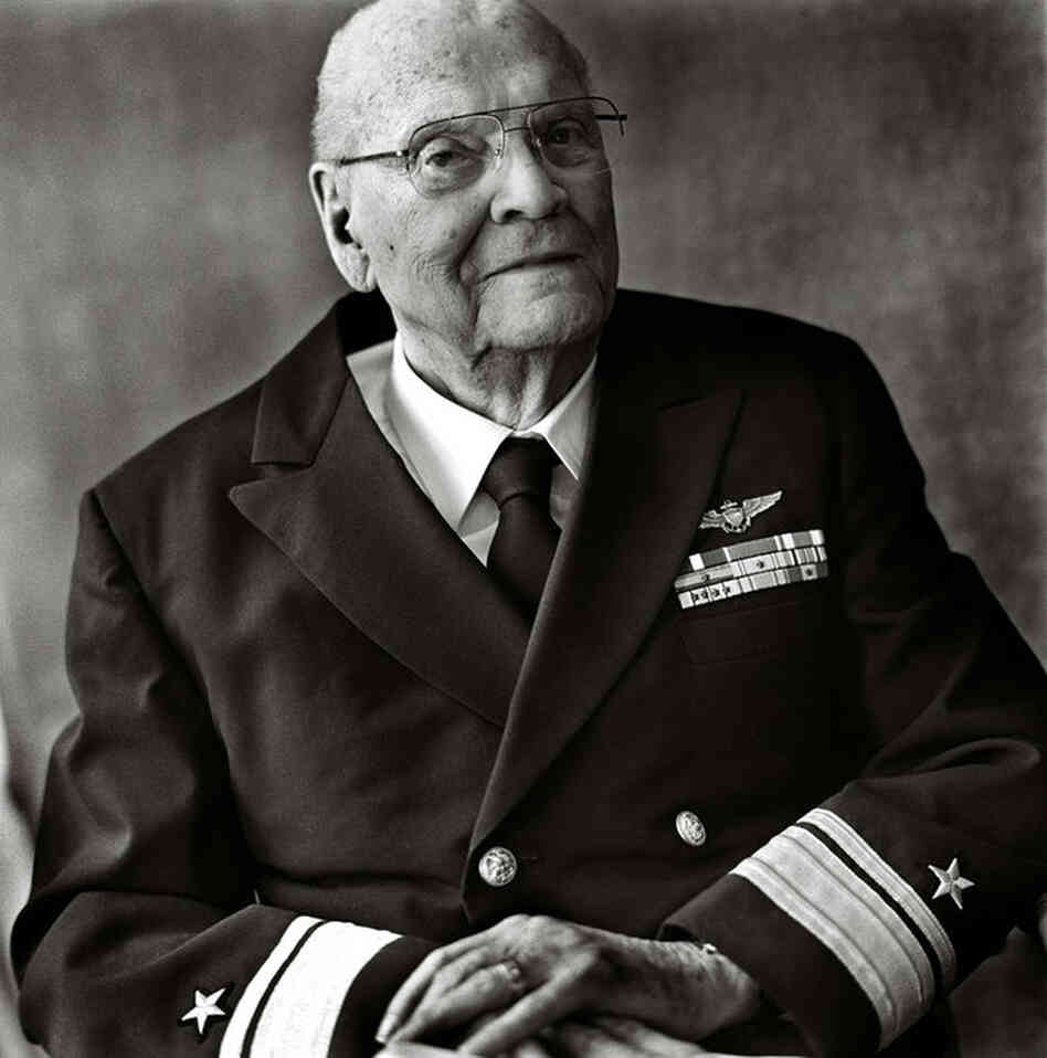 Retired Adm. Lew Hopkins, World War II dive-bomber pilot, Battle of Midway, San Antonio, Texas, 2008