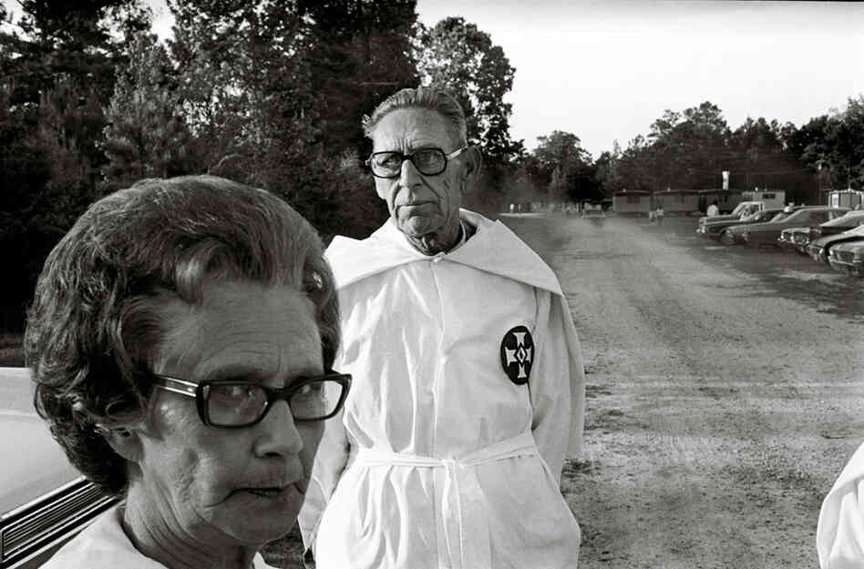 Ku Klux Klan member and wife, East Texas, 1975