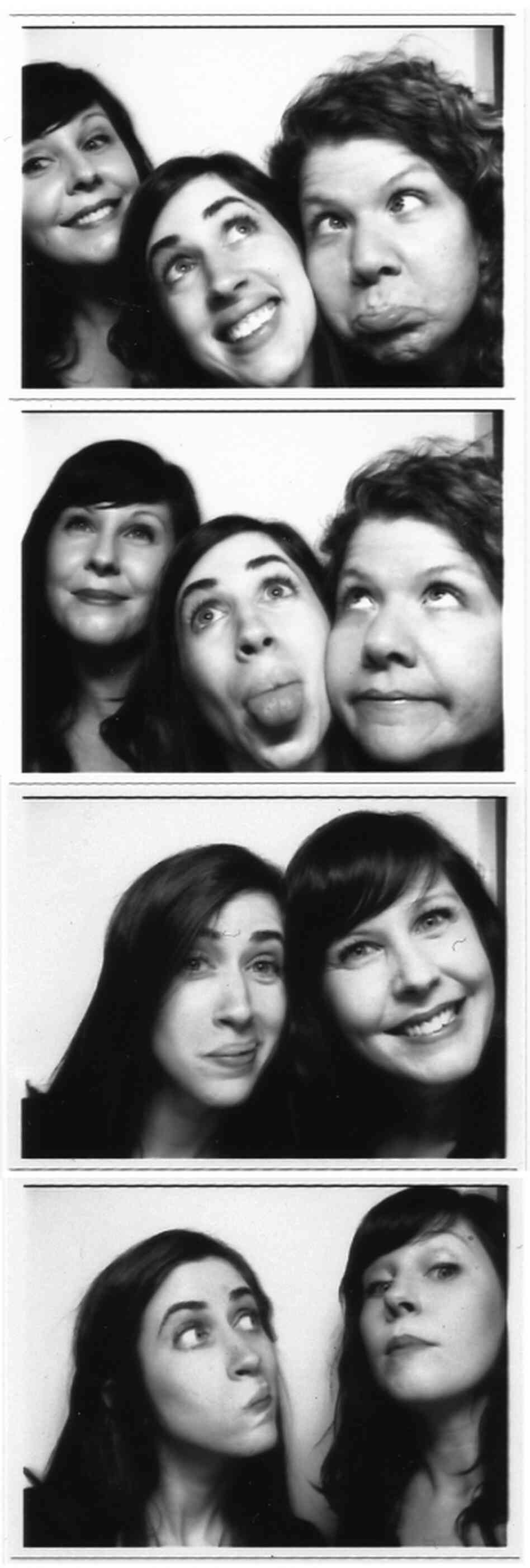 NPR's Creative Services team at the 2011 DC ADDY Awards (Top image, l to r): Betsy Martin, Katie Burk and Kathie Miller