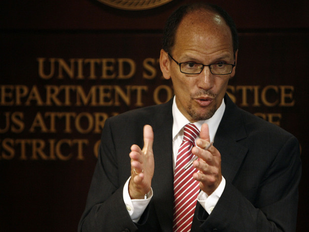 Assistant Attorney General Thomas Perez speaks in San Juan, Puerto Rico on Sept. 8, 2011, the day the Justice Department released a report accusing Puerto Rico police of civil rights violations.