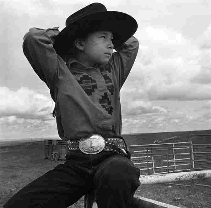 American Indian girl, Montana, 1993