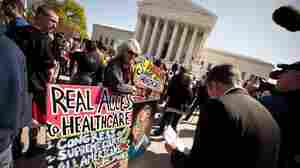 Outside Court, Protesters Face Off Over 'Obamacare'
