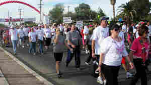 Participants at the 2012 Susan G. Komen Race for the Cure Southern Arizona in Tucson. As in several other regions, enrollment in the fundraising event was down this year.