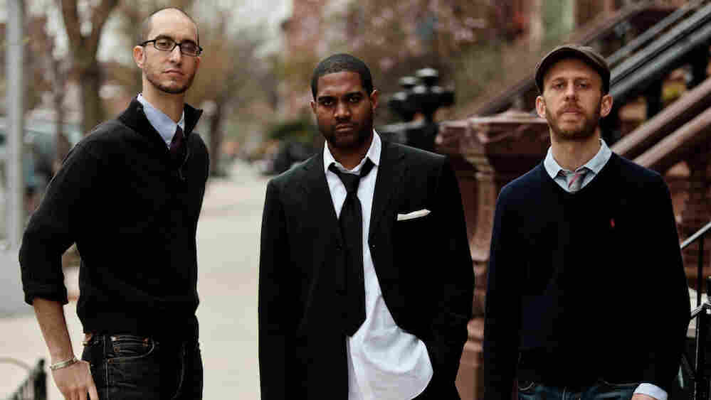 From left: Steve Lehman, Damion Reid and Matt Brewer recently performed on WBGO's The Checkout with host Josh Jackson.