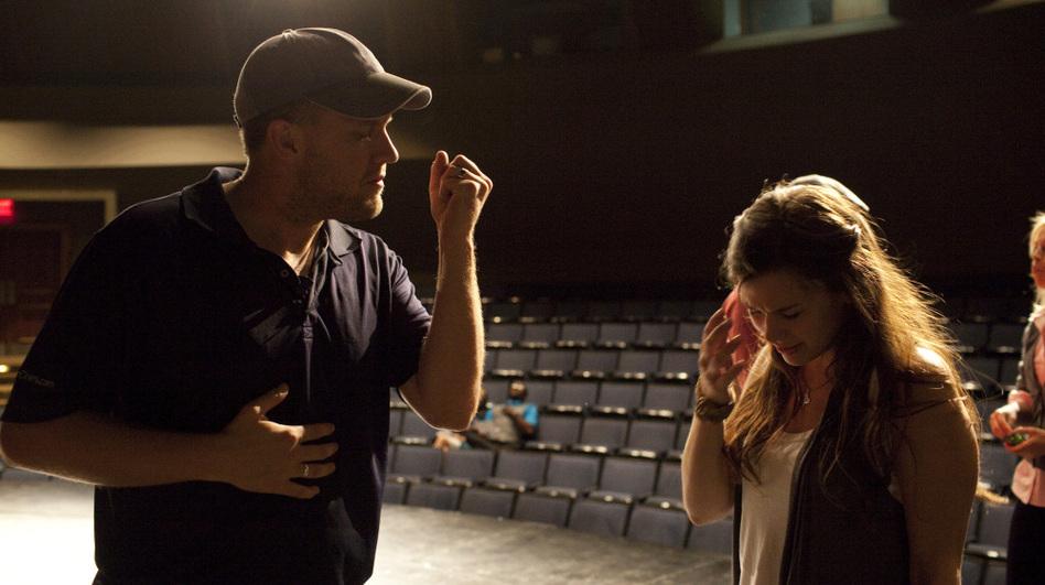 <em>October Baby </em>co-director Jon Erwin speaks to lead actress Rachel Hendrix.