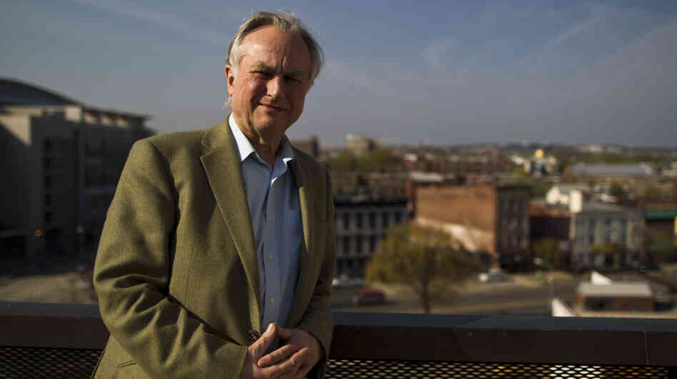 Author and evolutionary biologist Richard Dawkins at NPR headquarters in Washington, D.C., on Mar. 22.