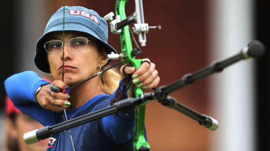 Archer Khatuna Lorig, seen here during the London Archery Classic last October, helped actress Jennifer Lawrence prepare for her role as Katniss Everdeen in The Hunger Games.