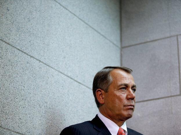 For Speaker John Boehner, politics still stops at the water's edge. He refused to criticize Pr