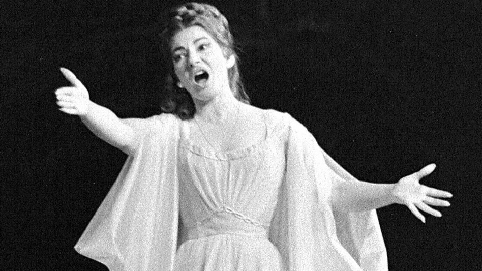 Maria Callas, a masterful bel canto singer, performs in the title role of Bellini's Norma in Paris, May 23, 1964. (AFP/Getty Images)