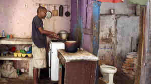 A photo from a series by Ellen Silverman, in which she explores what Cuban kitchens look like.