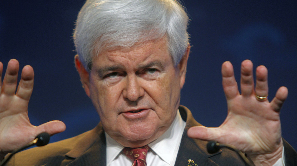 Former House Speaker Newt Gingrich, who wants to the the 2012 Republican presidential nominee, during a campaign event in Camp Hill, Pa., on Saturday (March 24, 2012).