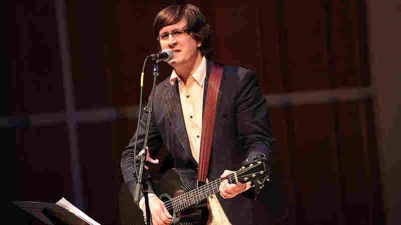 The Mountain Goats' John Darnielle live at the Ecstatic Music Festival, held at Merkin Concert Hall, New York City, on March 24, 2012.