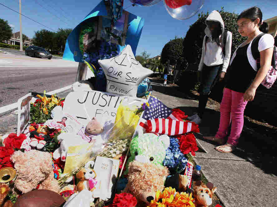 A memorial to Trayvon Martin outside The Retreat at Twin Lakes community in Sanford, Fla., where he was killed.