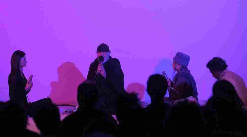 """""""The Dream House,"""" a collaboration between La Monte Young, a founding figure of minimalist music, and lighting designer Marian Zazeela, made its European premiere at the Villa Elisabeth as part of Berlin's MaerzMusik last week."""
