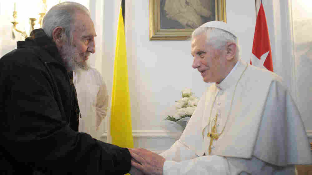 Pope Benedict meets with Fidel Castro in Havana on Wednesday as he wraps up his three-day visit to Cuba. A large crowd turned out for the Mass, though the pope did not meet with dissidents.