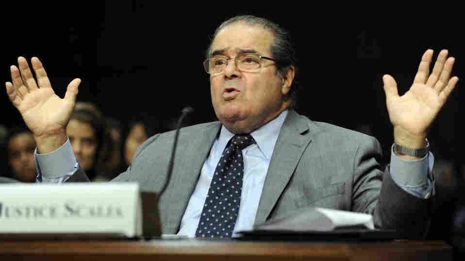There are no cameras allowed in arguments at the U.S. Supreme Court, but Justice Antonin Scalia was captured on film when he testified before the Senate Judiciary Committee on Oct. 5, 2011.