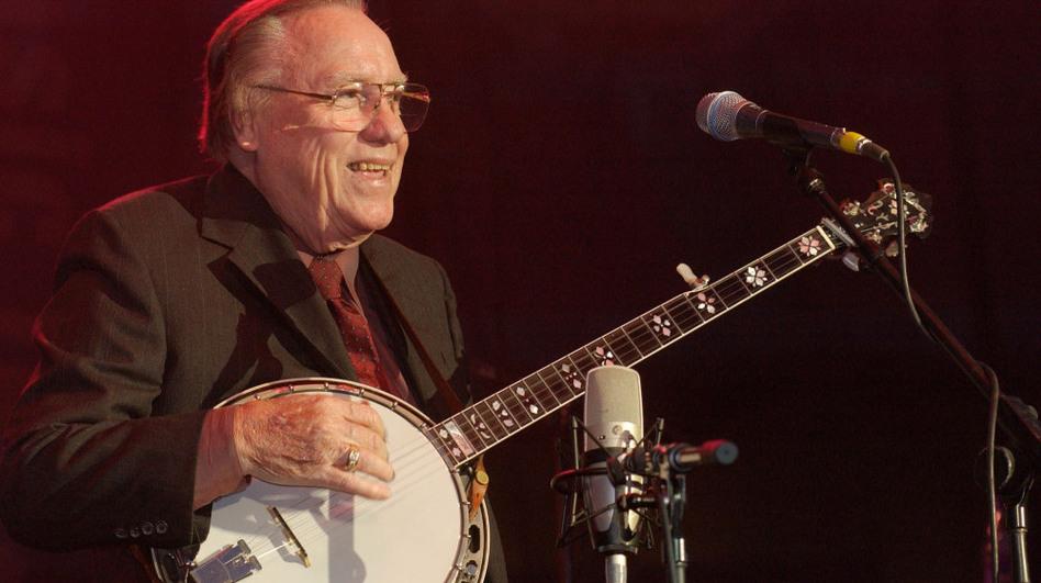 Earl Scruggs performs in Nashville, Tenn. in 2002.