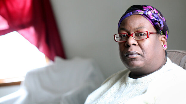 """Shirley Ree Smith sits in the living room of her daughter's upstairs duplex in Alexandria, Minn. Smith is waiting to hear if California Gov. Jerry Brown will grant her clemency. """"They say things happen for a reason. I'm not sure if I'll ever figure out a reason for all of this,"""" she says."""