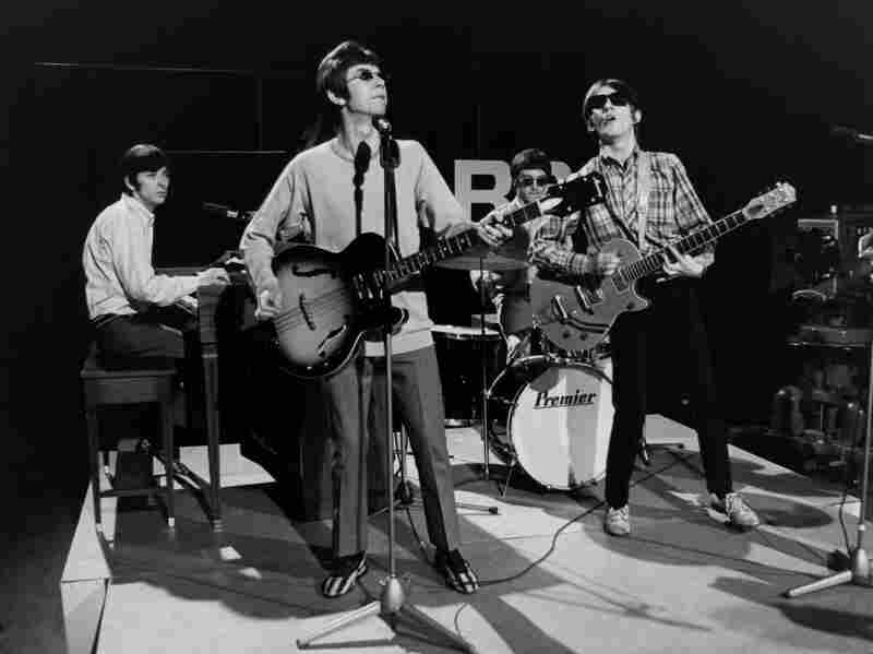 Ian McLagan, Ronnie Lane, Kenny Jones and Steve Marriott of The Small Faces perform live on Ready Steady Go! in 1966.