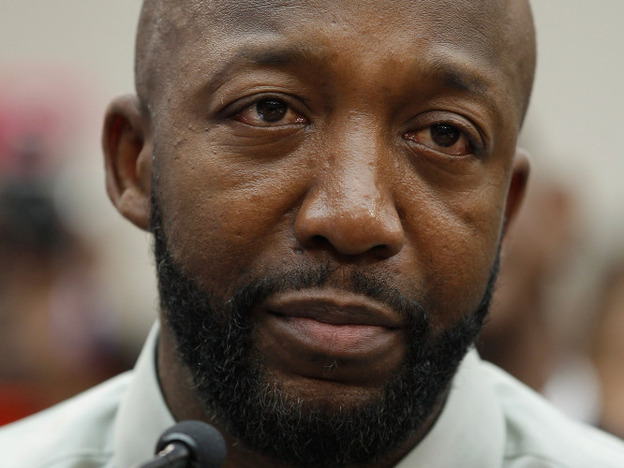 Tracy Martin, Trayvon Martin's father, at a forum held Tuesday on Capitol Hill. (Getty Images)