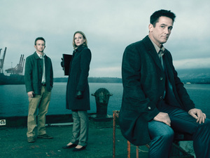 Jamie Wright (Eric Ladin), Gwen Eaton (Kristin Lehman) and Darren Richmond (Billy Campbell) return in AMC's The Killing.