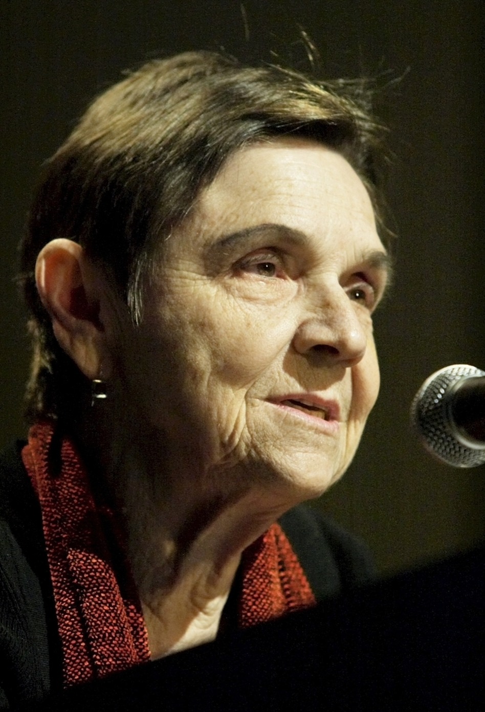 Poet Adrienne Rich, seen here in 2004, died Tuesday.  (Adam Rountree/AP Images)