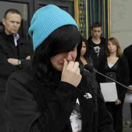 Alyssa Rodemeyer, 16, talks about her younger brother Jamey at an anti-bullying rally in San Francisco. Jamey committed suicide in September 2011 after being bullied. More schools are looking for ways to combat bullying among students.