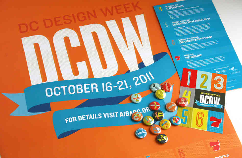 Silver DC Addy 2012: NPR's designers were commissioned to design the art for DC Design Week 2011.