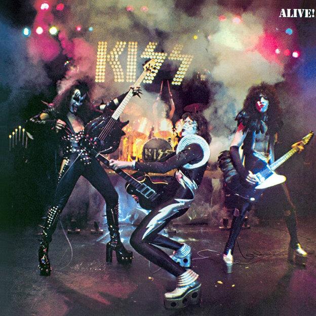 The album art for Kiss' Alive!