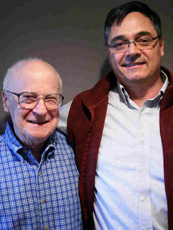 """""""For me, dying — it's very enlightening and certainly rewarding,"""" David Plant (left) tells Frank Lilley. """"Look at the opportunity to talk, for example. It's just incredible."""""""