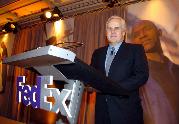 FedEx CEO Fred Smith, seen here in 2005, says he's is concerned about the effect oil consumption has on the U.S.