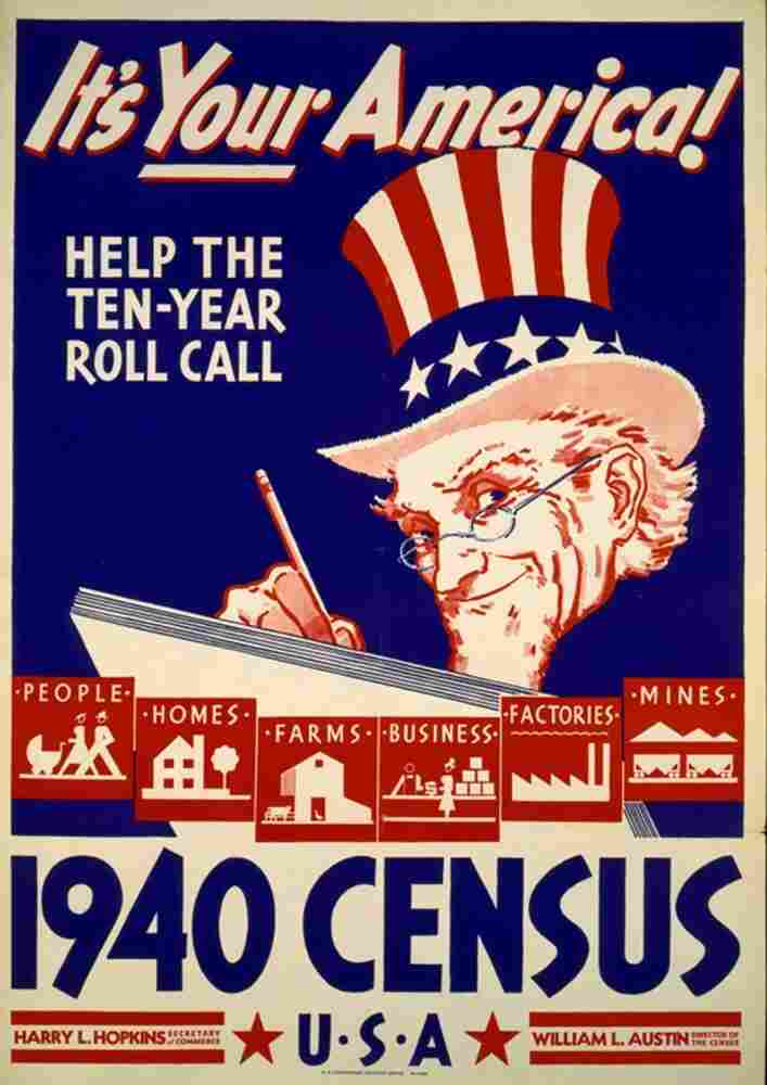 A poster for the 1940 census.