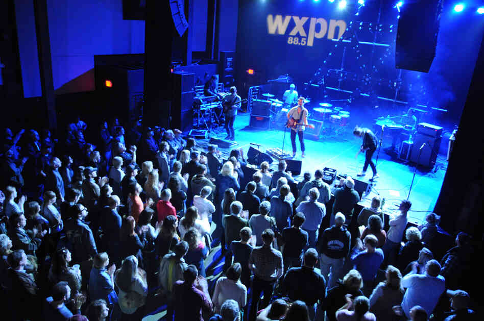 Delta Spirit filled Union Transfer in Philadelphia for a noon concert on WXPN.